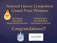 Congratulations to the National Literary Competition Grand Prize Winners!
