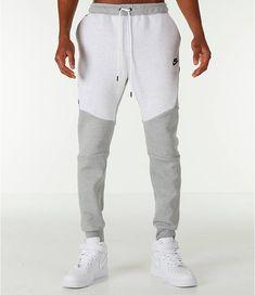 6bd54765a856 Front Three Quarter view of Men s Nike Tech Fleece Jogger Pants in  Birch Heather Grey