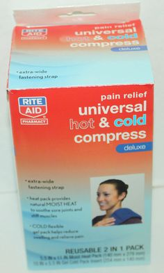 RITE AID PAIN RELIEF UNIVERSAL HOT & COLD DELUXE COMPRESS THERAPY & VELCRO STRAP #RiteAid