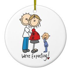 We're Expecting Couple with Toddler Boy Ornament