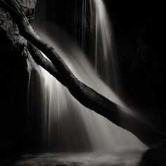 Vaioaga Waterfall by Alexandru Crisan, Photography Dark Backgrounds, Shades Of Black, Pigment Ink, Image Photography, Light In The Dark, Around The Worlds, Fine Art, Photo And Video, Art Prints