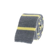 Vibrant-stripe knit tie