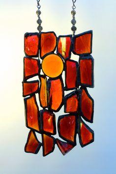 Sunset dalles de verre