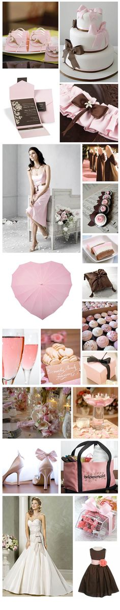 brown and pink wedding theme moodboard annie compean compean falconieri