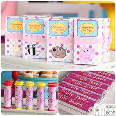 Peppa Pig birthday party food treats sweets bags