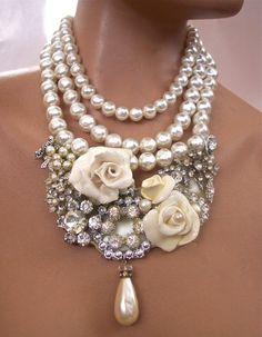 Pearls Vintage  Rhinestone