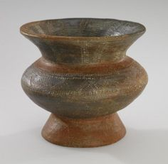 Jar, Sa Huỳnh culture, Southern Central Vietnam, c. 5th-2nd century BCE. Pottery, pigment. 4-9/16 x 4-15/16 x 4-15/16 in. (11.6 x 12.5 x 12.5 cm). The Alan and Dena Naylor Southeast Asian Art Fund (2001.31.2). Minneapolis Institute of Art.