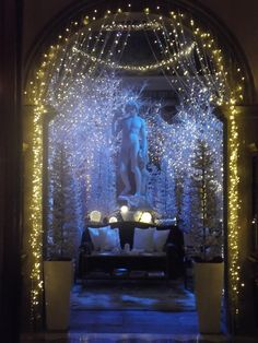 Glittering lights and white trees at @Four Seasons Hotel Firenze (Florence)
