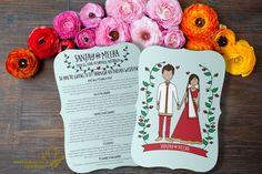 Indian Wedding Program: Boho Indian (Printable) -- Hindu Wedding Muslim Nikah…