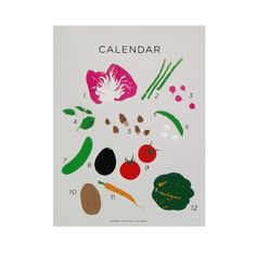Seasonal Vegetables of California Print by Claire Nereim - I want the whole series