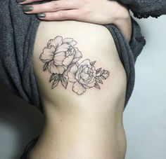 Image result for floral tattoo ribs