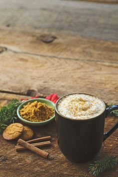 Ginger, cinnamon and molasses give this foamy favorite it's classic gingerbread flavor.