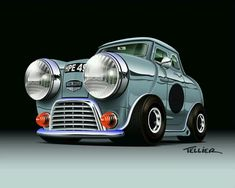 Mini Cooper Classic, Mini Cooper S, Classic Mini, Classic Cars, Cool Car Drawings, Austin Cars, Funny Minion Pictures, Cooper Car, Beach Buggy
