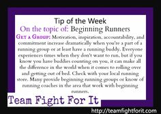Get a group: Motivation, inspiration, accountability, and commitment increase dramatically when you are a part of a running group or at least have a running buddy. Everyone experiences times when they don't want to run, but if you know you have buddies counting on you, it can make all the difference in the world when it comes to rolling over and getting out of bed.