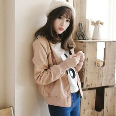 Buy 'Tokyo Fashion – Faux-Leather Hooded Jacket' at YesStyle.com plus more Taiwan items and get Free International Shipping on qualifying orders.