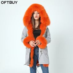 Cheap women parka, Buy Quality women brand parka directly from China brand women parka Suppliers: brand 2017 outwear long fur coat winter jacket women parka real natural large fox Fur Collar hooded Thick Warm rabbit Fur liner