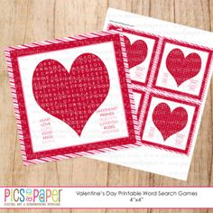 Free printable Valentine's Day Word Search