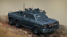 ArtStation - Toyota Hilux Guntruck by Krzysztof Luzny