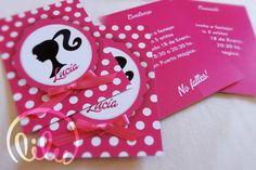 Invitación para cumpleaños inspirada en Barbie - Barbie Party invitation