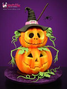 Halloween Pumpkins Cake by Yeners Way - Cake Art Tutorials