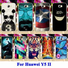 AKABEILA Soft TPU Hard PC Phone Cases For Huawei Y5 II Y5II Y5 2 Y6 ii Compact Y6 ii MINI CUN-U29 Honor 5A LYO-L21 Y5 2nd Covers