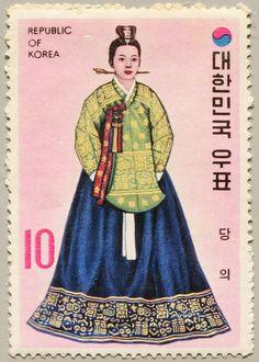 1973 República de Corea-Traje Típico de Princesa de la Dinastía Imperial Yi