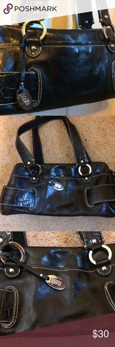 Franco Sarto pocketbook Franco Sarto black leather pocketbook in excellent condition, like new. Never used, beautiful. Franco Sarto Bags Hobos