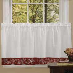 Achim 2-pack Oakwood Tier Curtains, Red