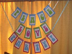 tie dye party banner- silhouette project?!
