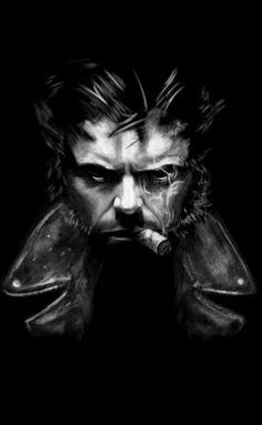 b&w photos hugh jackman | Hugh Jackman - Wolverine by DobermannRU