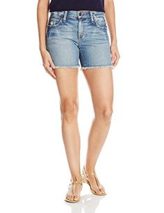 Joes Jeans Womens Japanese Denim CutOff Boyfriend Short Light Blue 25 -- ON SALE Check it Out