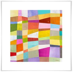 Abstract blocks giclee print by Melanie Mikecz