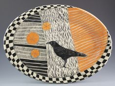 I want this....Awesome-ness!!! Woodcut Series of Ceramic Artist Patricia Griffin