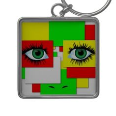 Keychain abstract background with eyes  http://www.zazzle.com/keychain_abstract_background_with_eyes-146491655305019400