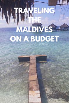 Maldives on a budget!