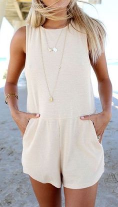 Cream Romper. So cute!