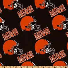 NFL Cotton Broadcloth Cleveland Browns Orange/Brown from @fabricdotcom  Cheer on the Cleveland Browns your favorite NFL team with this NFL cotton broadcloth fabric. Perfect for use in quilting projects, craft projects and even apparel.