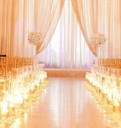 Gold Indoor Wedding Ceremony – Wedding For My Life Indoor Wedding Ceremonies, Wedding Ceremony Flowers, Wedding Ceremony Decorations, Wedding Bouquets, Wedding Venues, Wedding Dresses, Indoor Ceremony, Mod Wedding, Dream Wedding