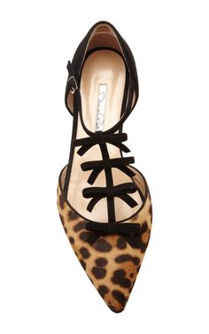 Evelyn Ponyskin and Suede Mary-Jane Flats by Oscar de la Renta - Moda Operandi