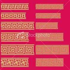 chinese pattern Royalty Free Stock Vector Art Illustration Shirt lining