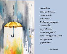 un dia gris y el paraguas amarillo...