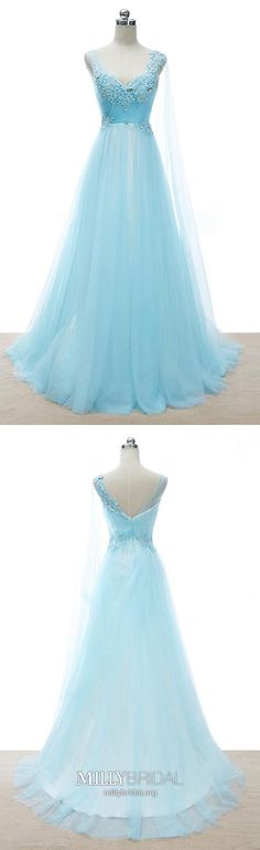 Blue Prom Dresses Long, Princess Prom Dresses V Neck, Tulle Prom Dresses For Teens, Lace Prom Dresses Beading Cheap Pageant Dresses, Beauty Pageant Dresses, Elegant Homecoming Dresses, Modest Formal Dresses, Princess Prom Dresses, Simple Prom Dress, Formal Dresses For Teens, Tulle Prom Dress, Party Dresses