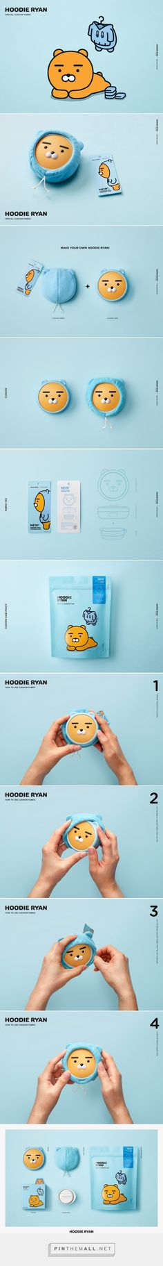 HOODIE RYAN x THEFACESHOP collaboration (with cushion fabric)  -  Packaging of the World - Creative Package Design Gallery - http://www.packagingoftheworld.com/2017/11/hoodie-ryan-x-thefaceshop-collaboration.html