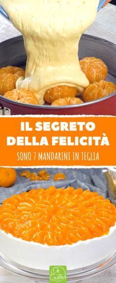 *Paradisiaca torta ai mandarini con crema al mascarpone.* Sette mandarini succosi avvolti da una torta soffice - non sembra invitante? Allora provate questa speciale torta ai mandarini con una freschissima crema al mascarpone. #crema #panna #mascarpone #succo #mandarino #torta #mandarini #dessert #ricettedolci #pasticceria #tortasoffice #cheesecake #frutta #handmade Mandarin Cake, Frappe, Cooking Recipes, Cheesecake, Dessert, Food, Shabby Chic, Dish, Cakes