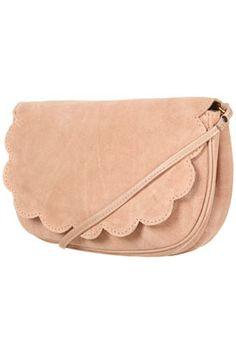 Topshop Scallop Suede Crossbody Bag $60