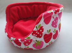 Luxury guinea pig bed in a strawberry design with by Squeak Dreams   Maybe in a more manly color...