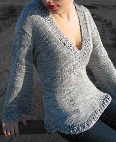 Sahara - nice shaped sweater with custom fit and any sleeve length $