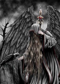 Magier der Lufte - Jan Reschke Mehr Art angel The Odd World of Janus - Galerie meiner Fantasy Bilder Dark Fantasy Art, Fantasy Kunst, Dark Art, Grim Reaper Art, Dark Reaper, Ange Demon, Arte Obscura, Angels And Demons, Dark Angels
