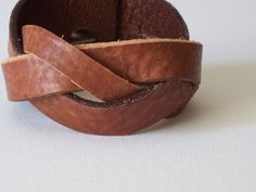 Braided Leather Cuff Bracelet by beadbooty.etys.com #leather #jewelry #fashion #etsy #handcrafted