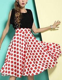 Vintage Splashy Print Sleeveless Dress